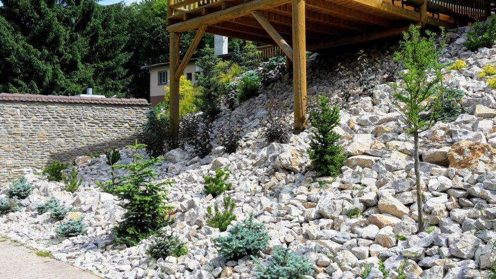 Záhrada Trenčianske Teplice spevnenie